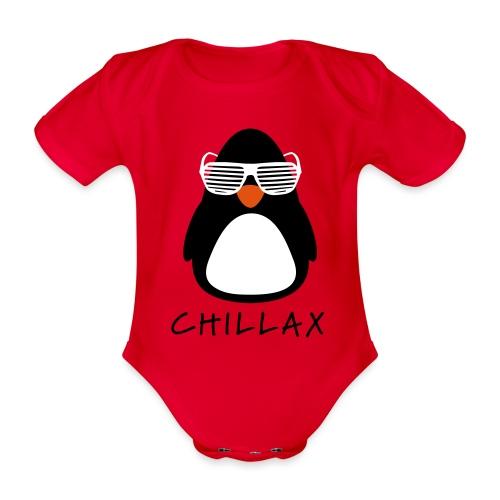Chillax - Baby bio-rompertje met korte mouwen