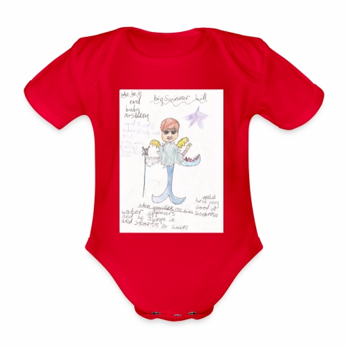 Big Swimmer Bill DHIRT - Organic Short-sleeved Baby Bodysuit