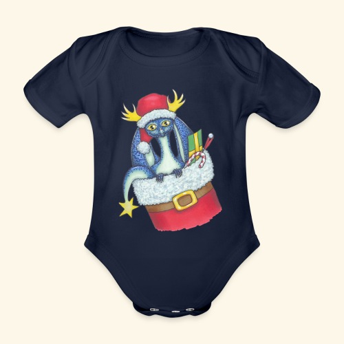 Juldrake - Ekologisk kortärmad babybody