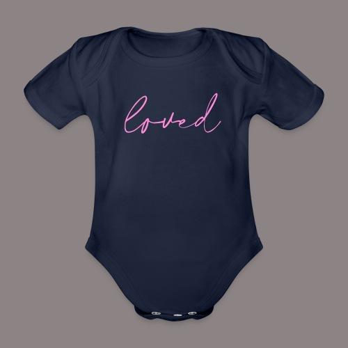 loved rosa - Baby Bio-Kurzarm-Body