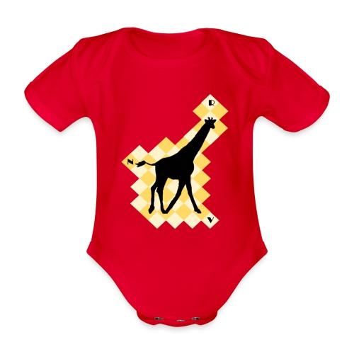 GiraffeSquare - Vauvan lyhythihainen luomu-body