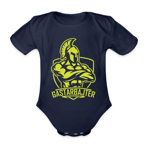 gastarbajter logo spartan neon yellow png - Baby Bio-Kurzarm-Body