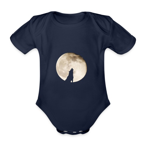The wolf with the moon - Body Bébé bio manches courtes