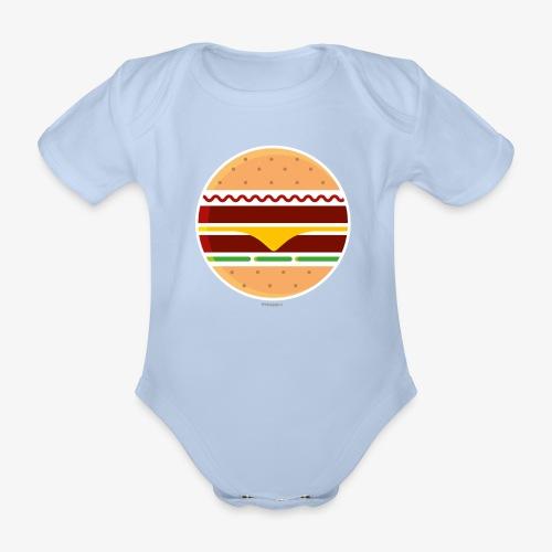 Circle Burger - Body ecologico per neonato a manica corta