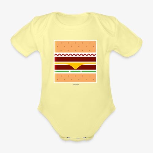 Square Burger - Body ecologico per neonato a manica corta