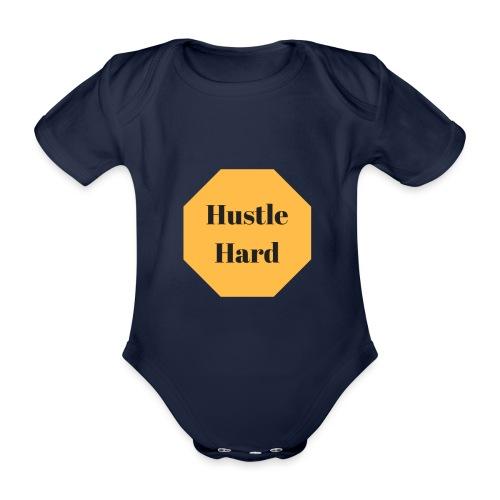 hustle hard - Baby Bio-Kurzarm-Body