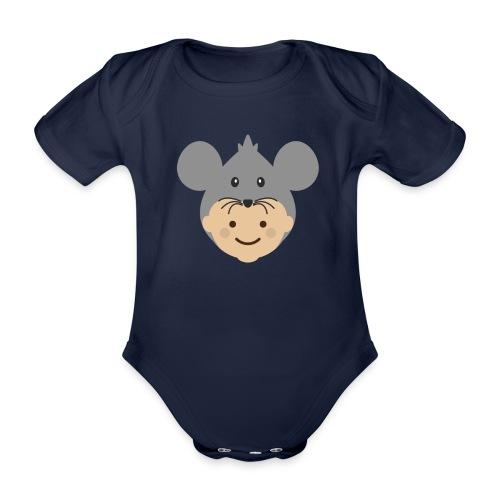 Mr Mousey | Ibbleobble - Organic Short-sleeved Baby Bodysuit