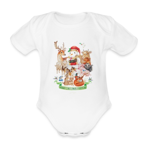 Vegan Christmas - Organic Short-sleeved Baby Bodysuit