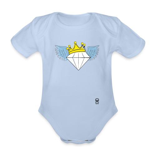 King Diamond Wings - Organic Short-sleeved Baby Bodysuit