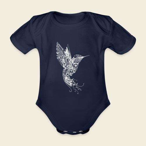Großer Kolibri in weiß - Baby Bio-Kurzarm-Body