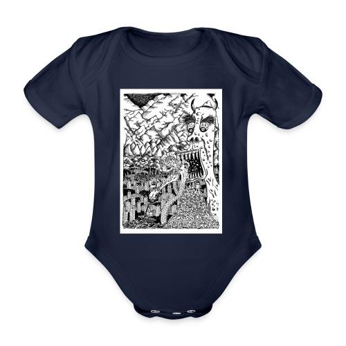 Sea Monsters T-Shirt by Backhouse - Organic Short-sleeved Baby Bodysuit
