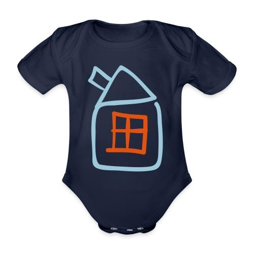House Outline Pixellamb - Baby Bio-Kurzarm-Body