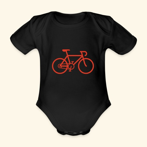 Rennrad, Race-Bike, Fahrrad - Baby Bio-Kurzarm-Body