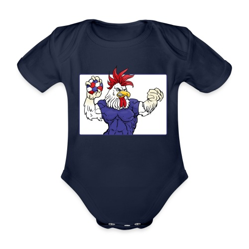 L'EQUIPE - Handball EURO 2018 in Croatia - Organic Short-sleeved Baby Bodysuit