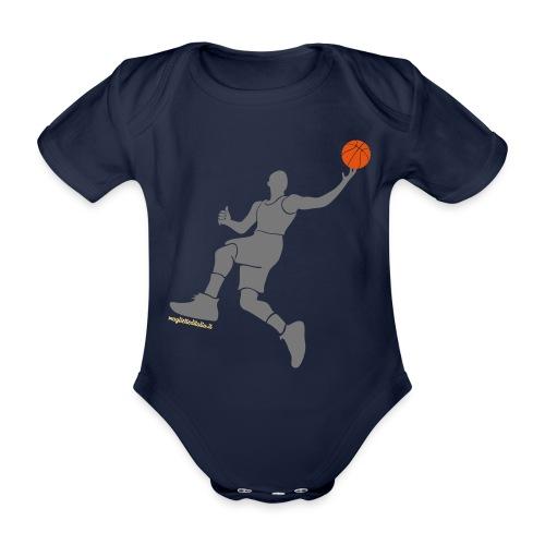 slamdunk_ball - Body ecologico per neonato a manica corta