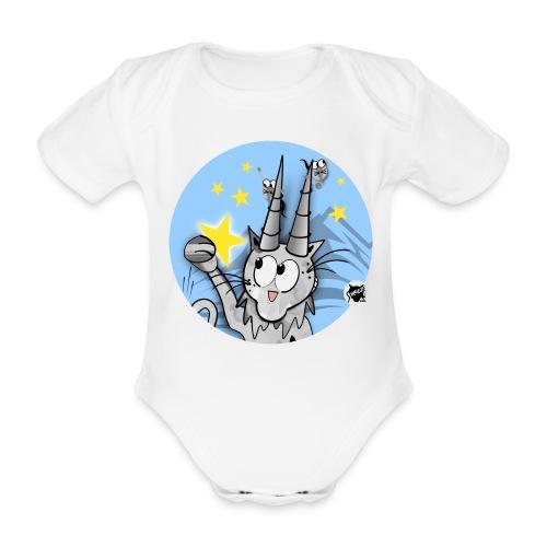 Astrokatze Steinbock - Baby Bio-Kurzarm-Body