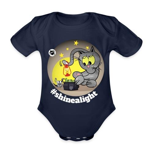 Astrokatze Skorpion - Baby Bio-Kurzarm-Body