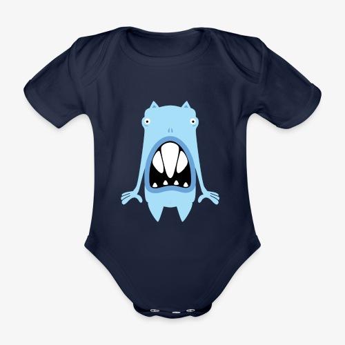 'Oasi' monster 01 - Baby bio-rompertje met korte mouwen