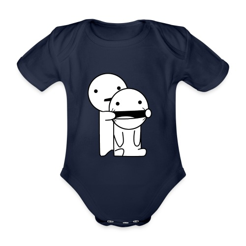 Lachen! - Baby bio-rompertje met korte mouwen