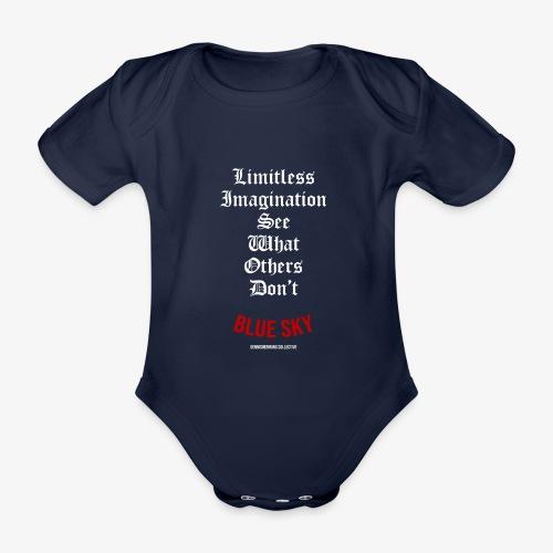 Limitless Imagination Wit - Baby bio-rompertje met korte mouwen
