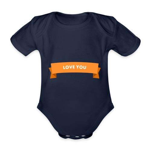 Love you 3 - Baby Bio-Kurzarm-Body