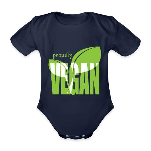 proudly vegan - Baby Bio-Kurzarm-Body