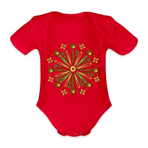 Mandala Herfst - Baby bio-rompertje met korte mouwen