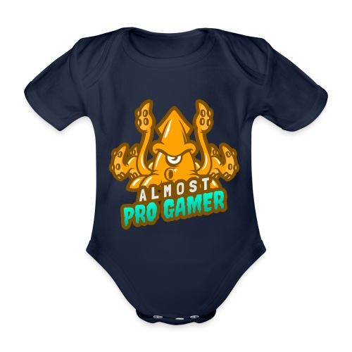 Almost pro gamer YELLOW - Body ecologico per neonato a manica corta