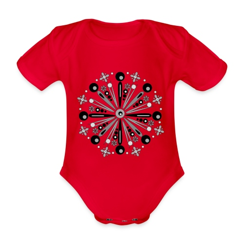 Mandala Winter - Baby bio-rompertje met korte mouwen
