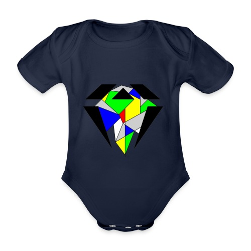 J.O.B. Diamant Colour - Baby Bio-Kurzarm-Body