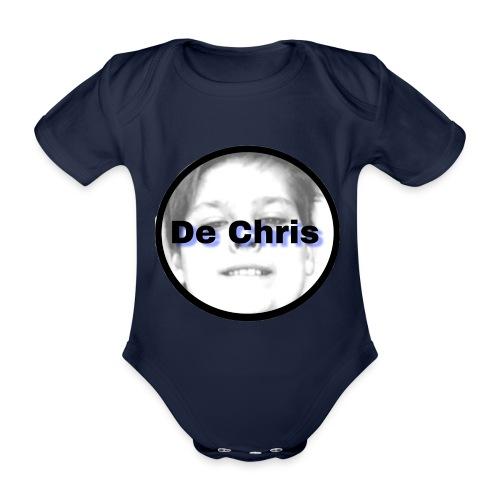 De Chris logo - Baby bio-rompertje met korte mouwen