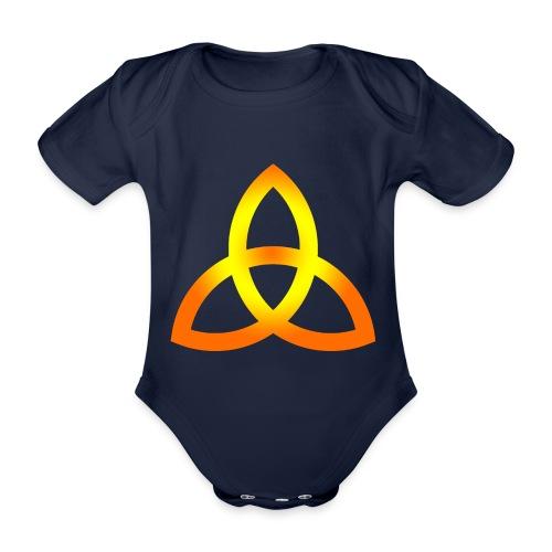 Orangegoldene Triquetra - Baby Bio-Kurzarm-Body