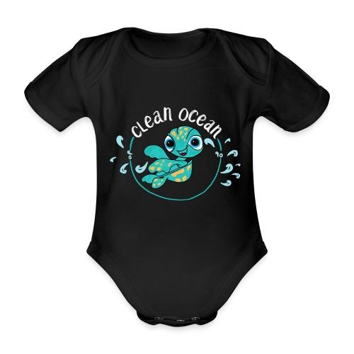 Clean Ocean - Organic Short-sleeved Baby Bodysuit