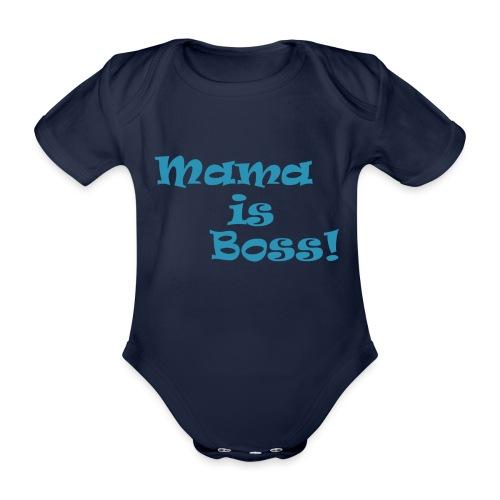 Mama is Boss! BabyBlu - Baby Bio-Kurzarm-Body
