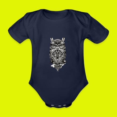 maglietta gufo - Body ecologico per neonato a manica corta