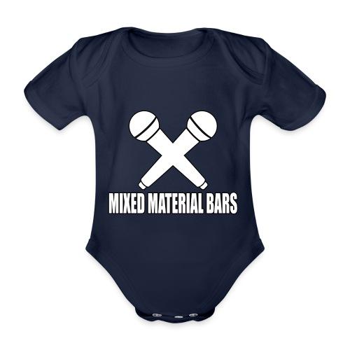 MIXED MATERIAL BARS - Baby Bio-Kurzarm-Body