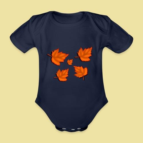 Herbstblätter - Baby Bio-Kurzarm-Body