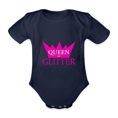 Königin des Glitzer - Baby Bio-Kurzarm-Body