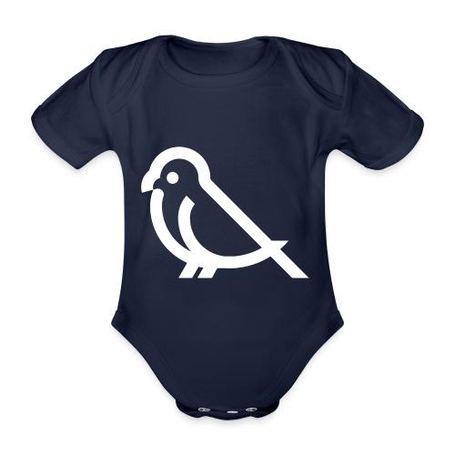 bird weiss - Baby Bio-Kurzarm-Body