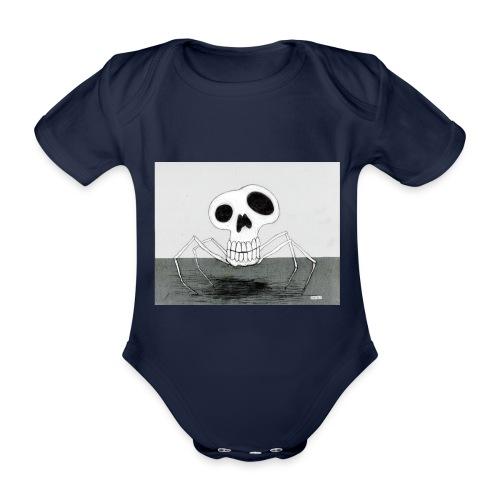 skull spider - Ekologisk kortärmad babybody