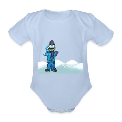 Freezing Turtle Snowboarder/Frierender Snowboarder - Baby Bio-Kurzarm-Body