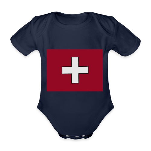 Swiss Flagge - Baby Bio-Kurzarm-Body