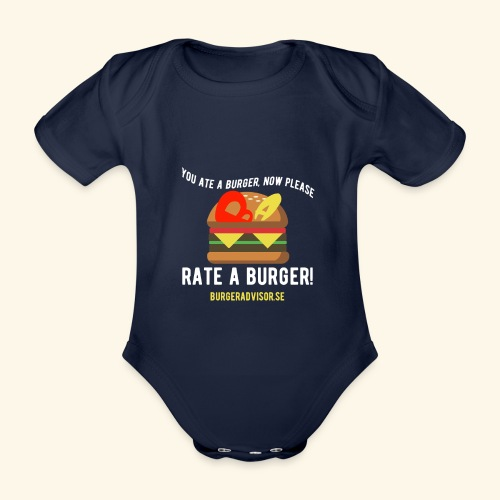 You ate a burger edition - Organic Short-sleeved Baby Bodysuit