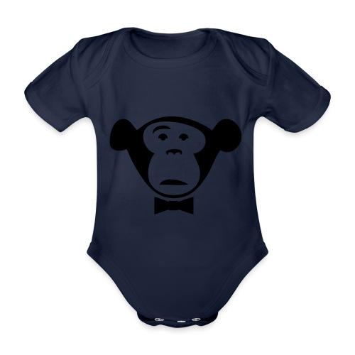 Monkey Media Official Logo - Baby Bio-Kurzarm-Body