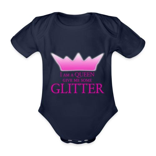Glitter Queen - Baby Bio-Kurzarm-Body
