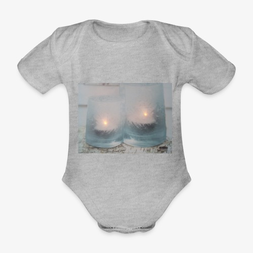 Selectie kaarslicht - Baby bio-rompertje met korte mouwen