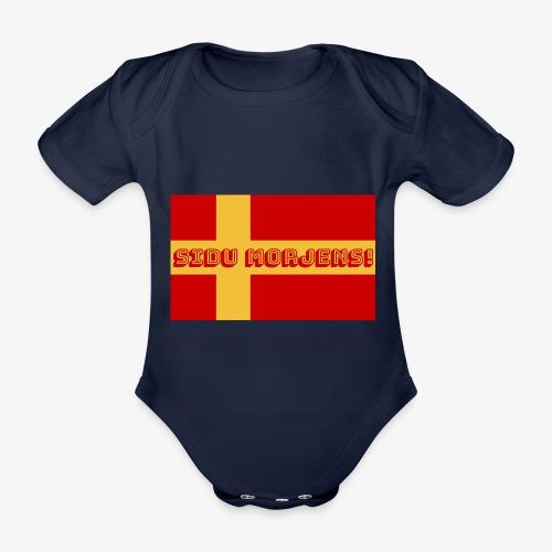 Sidu morjens! flagga - Ekologisk kortärmad babybody