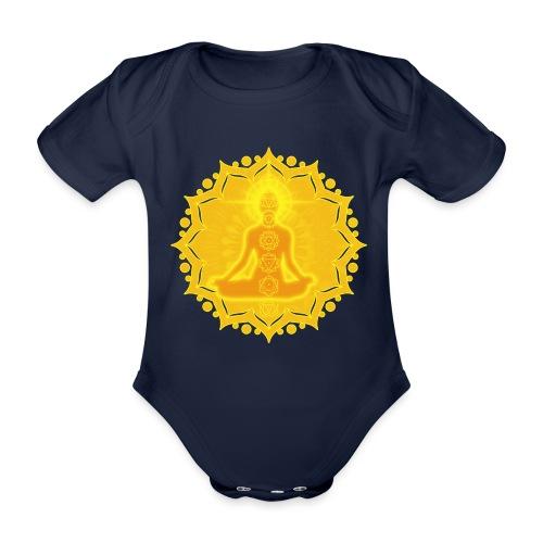 Yoga Lotus Meditation Chakren III - Baby Bio-Kurzarm-Body