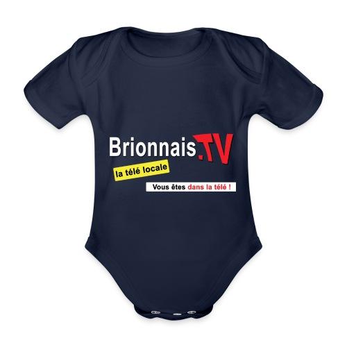 BTV logo shirt dos - Body Bébé bio manches courtes