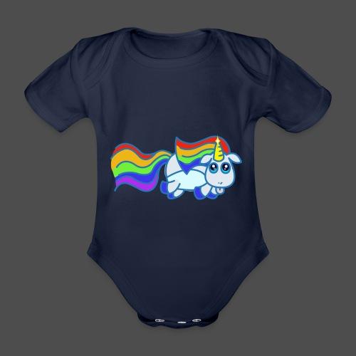 Nyan unicorn spread - Body ecologico per neonato a manica corta